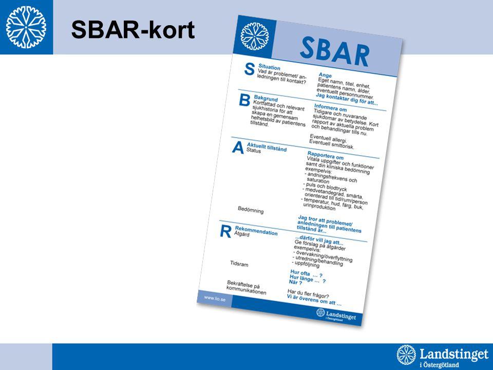 SBAR-kort