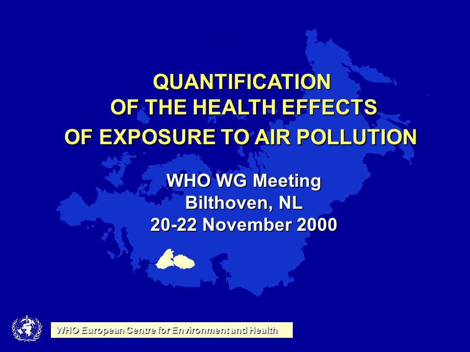 Bellander 2014-09-12 Arbets- & Miljömedicin Institutet för Miljömedicin Stockholms Läns Landsting Karolinska Institutet Bostadsutskottet 9 WHO Europea
