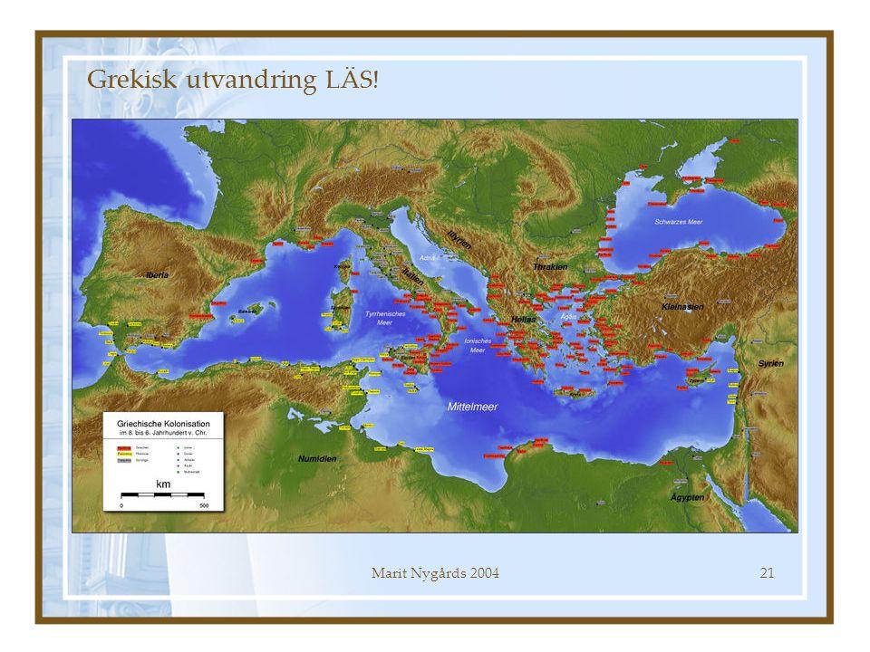 Marit Nygårds 200421 Grekisk utvandring LÄS!