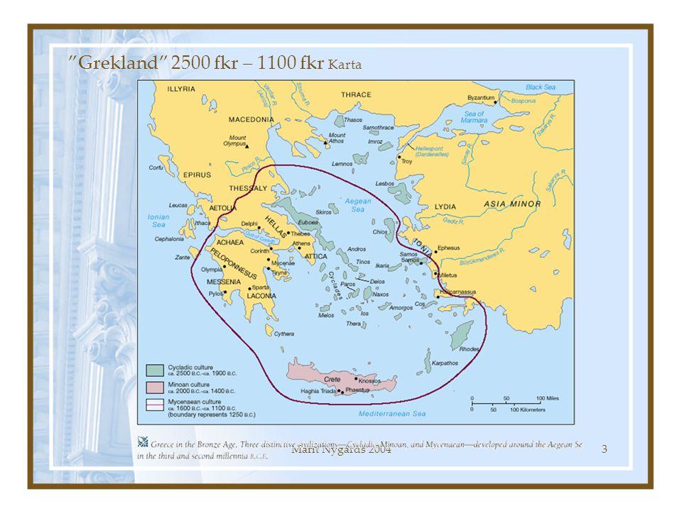 "Marit Nygårds 20043 ""Grekland"" 2500 fkr – 1100 fkr Karta"