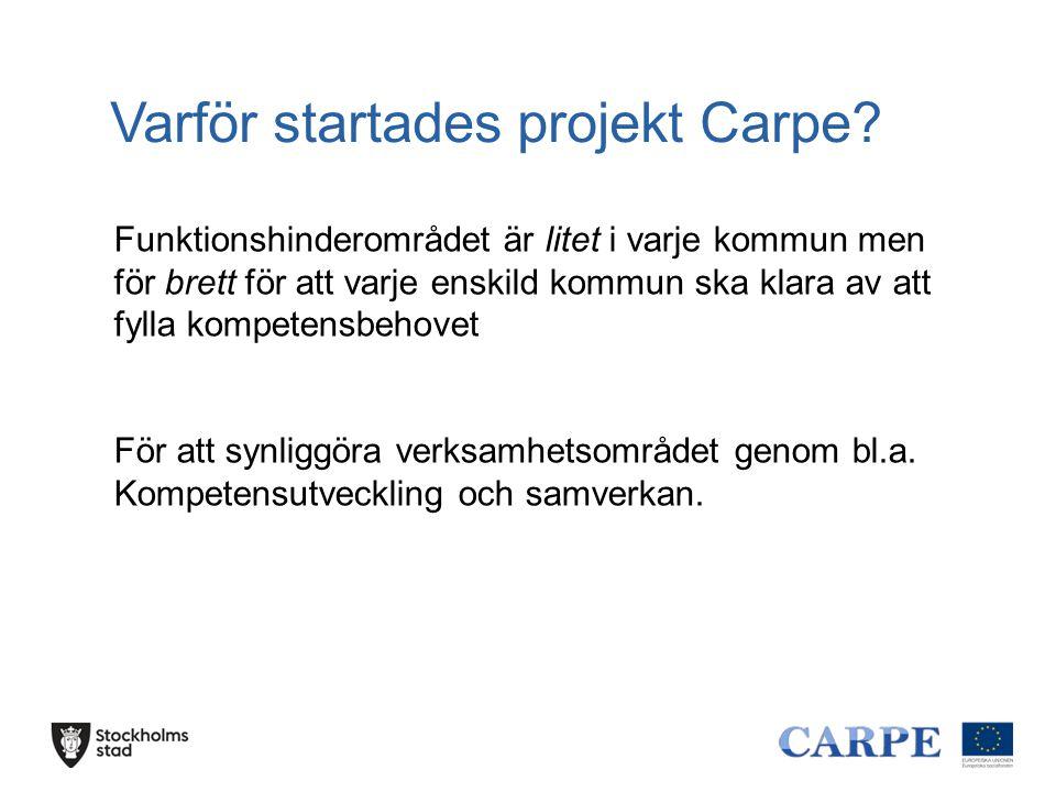 Varför startades projekt Carpe.