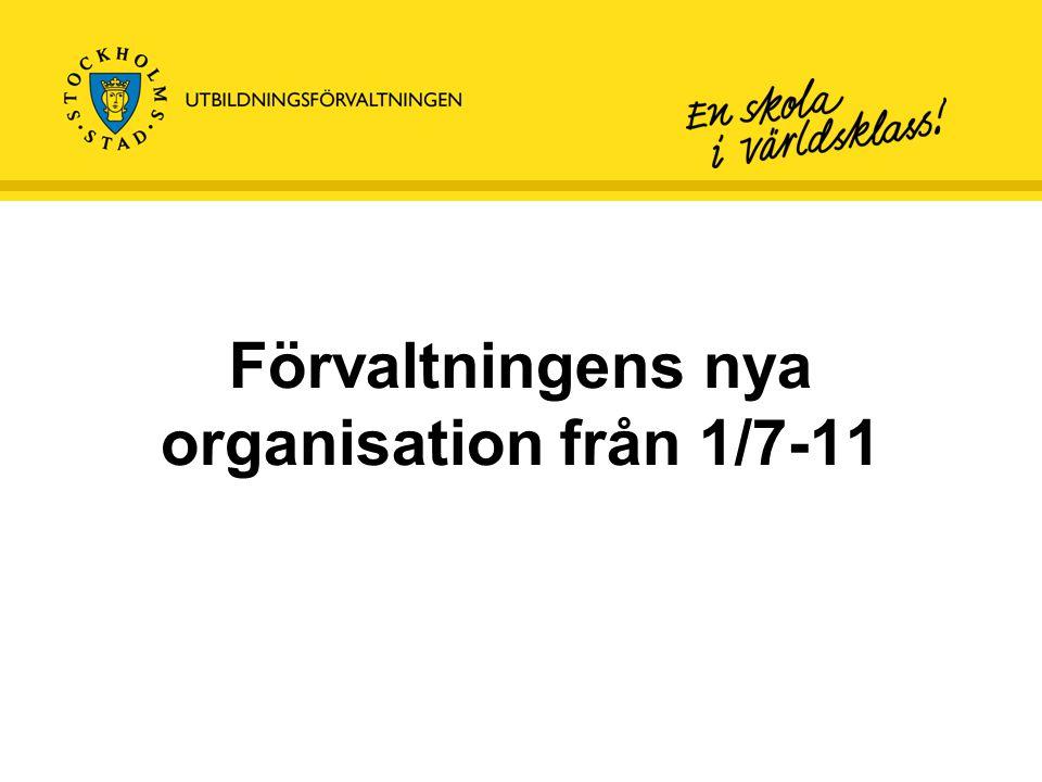 Förvaltningens nya organisation från 1/7-11