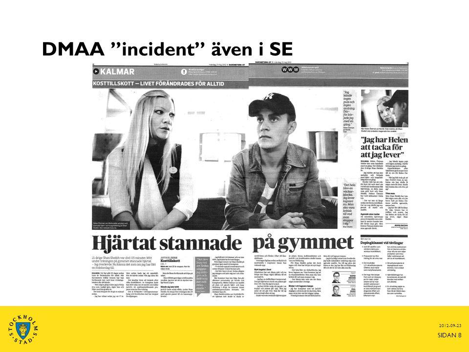 DMAA incident även i SE 2012-09-23 SIDAN 8