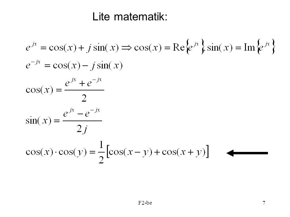 F2-be7 Lite matematik: