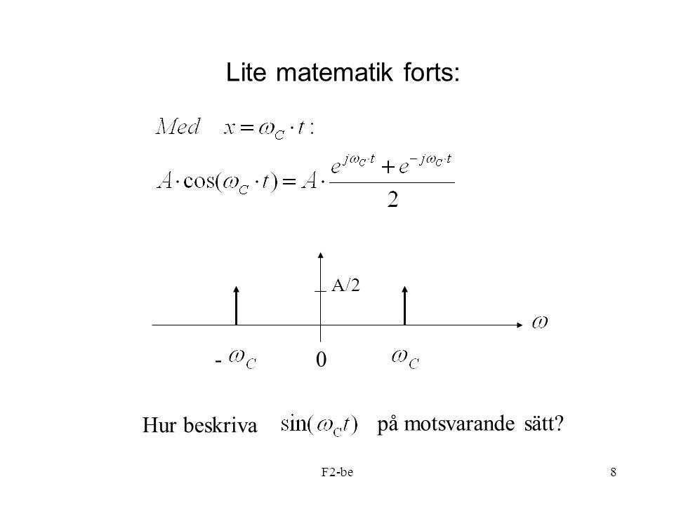F2-be8 Lite matematik forts: -0 A/2 Hur beskriva på motsvarande sätt?