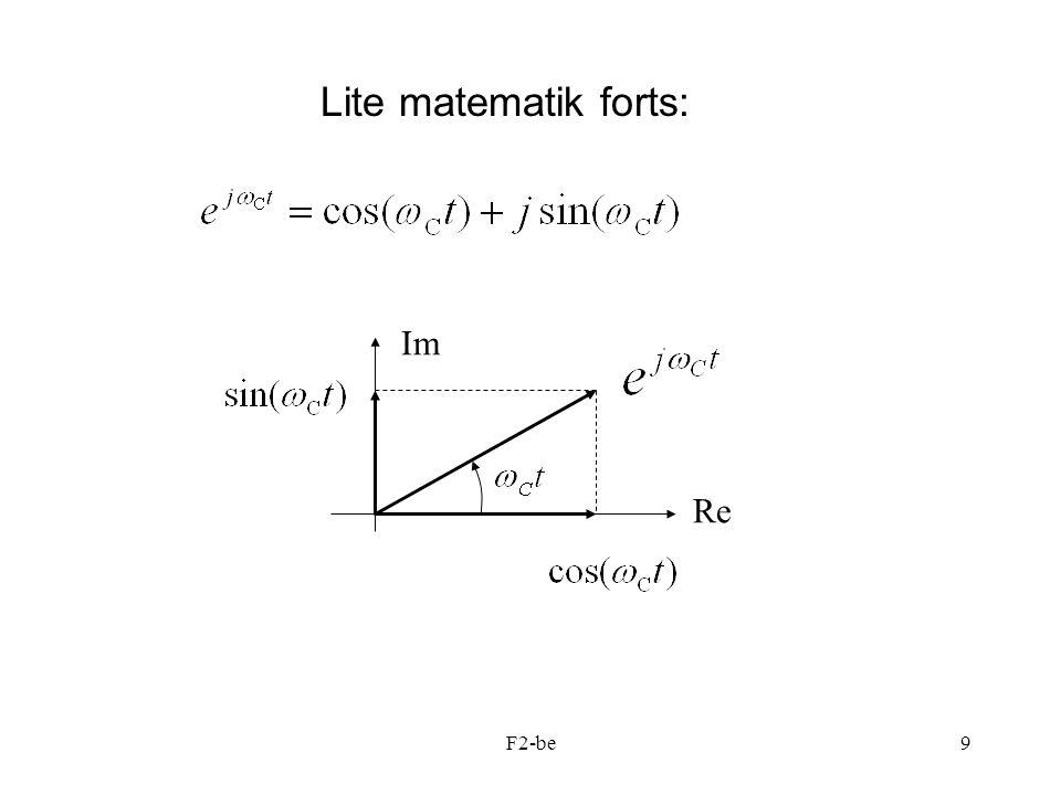 F2-be9 Lite matematik forts: Re Im