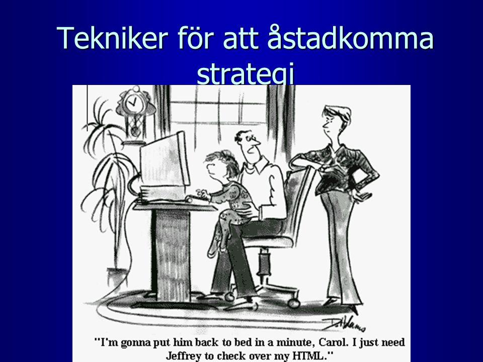 Tekniker för att åstadkomma strategi