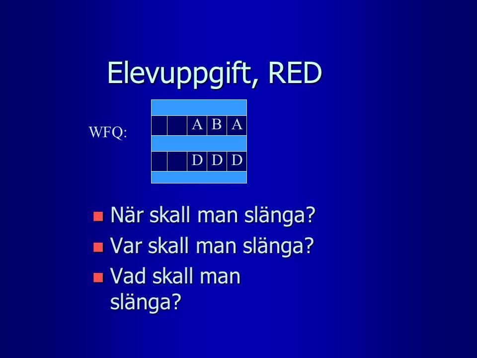 Elevuppgift, RED n När skall man slänga. n Var skall man slänga.