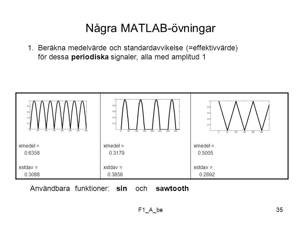 F1_A_be35 Några MATLAB-övningar 1.