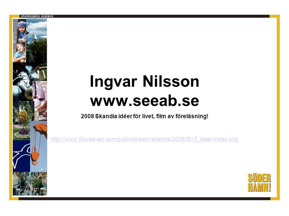 Ingvar Nilsson www.seeab.se 2008 Skandia idéer för livet, film av föreläsning.