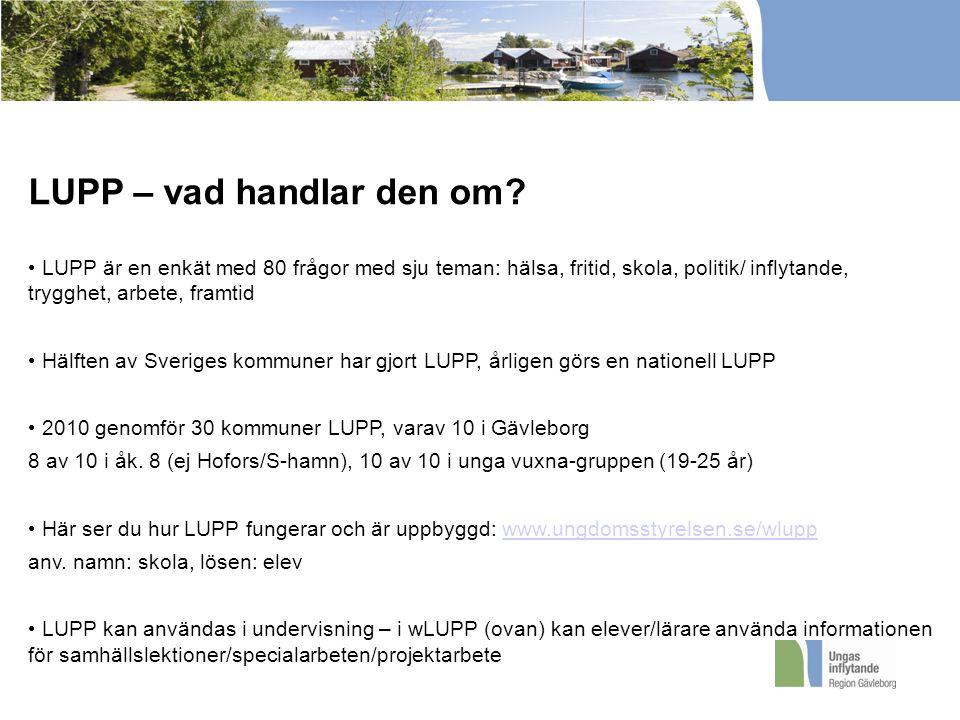 LUPP – vad handlar den om.