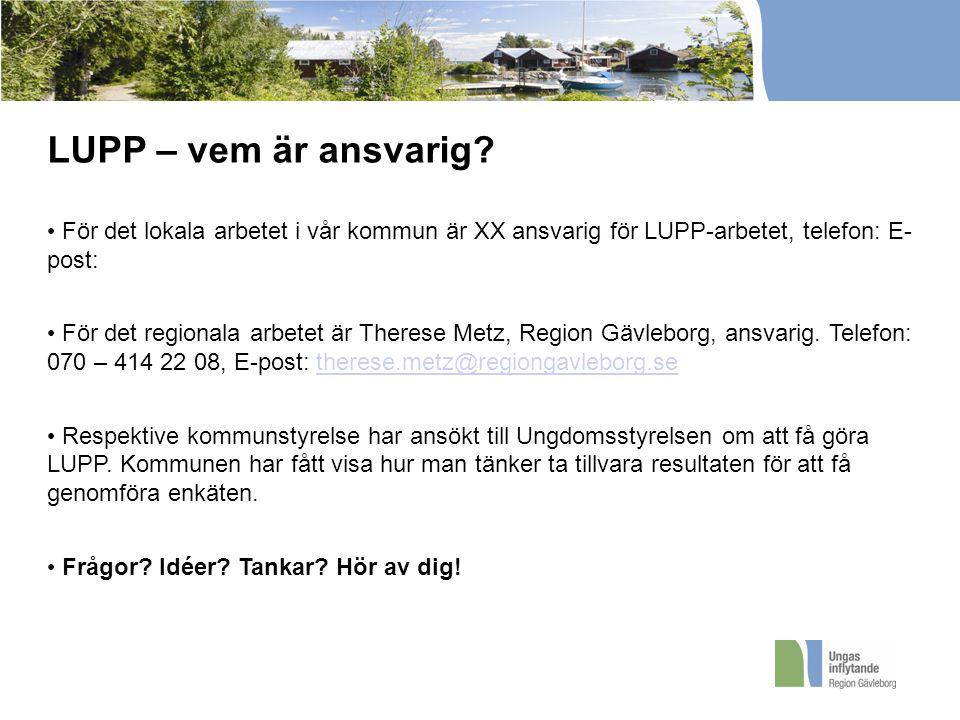 LUPP – vem är ansvarig.