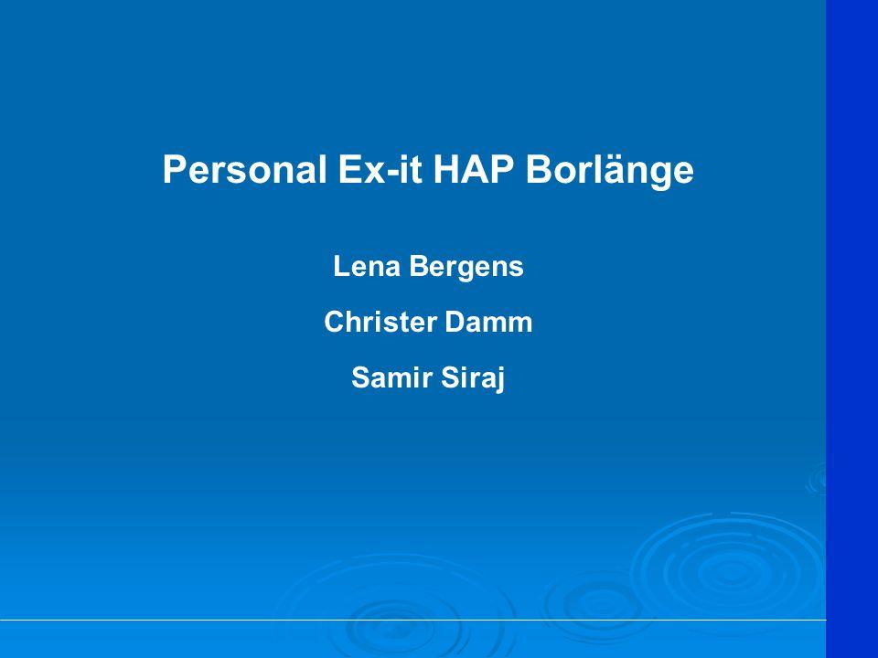 Personal Ex-it HAP Borlänge Lena Bergens Christer Damm Samir Siraj