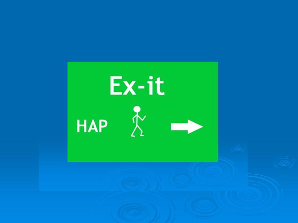 Tre program med utgångspunkt från HAP:  HAP – haschavvänjningsprogrammet  Kort HAP  Haschsamtalen