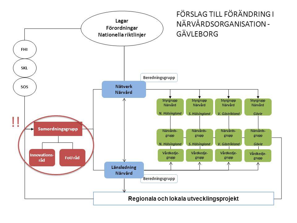 Nätverk Närvård Styrgrupp Närvård N.Hälsingland Styrgrupp Närvård S.