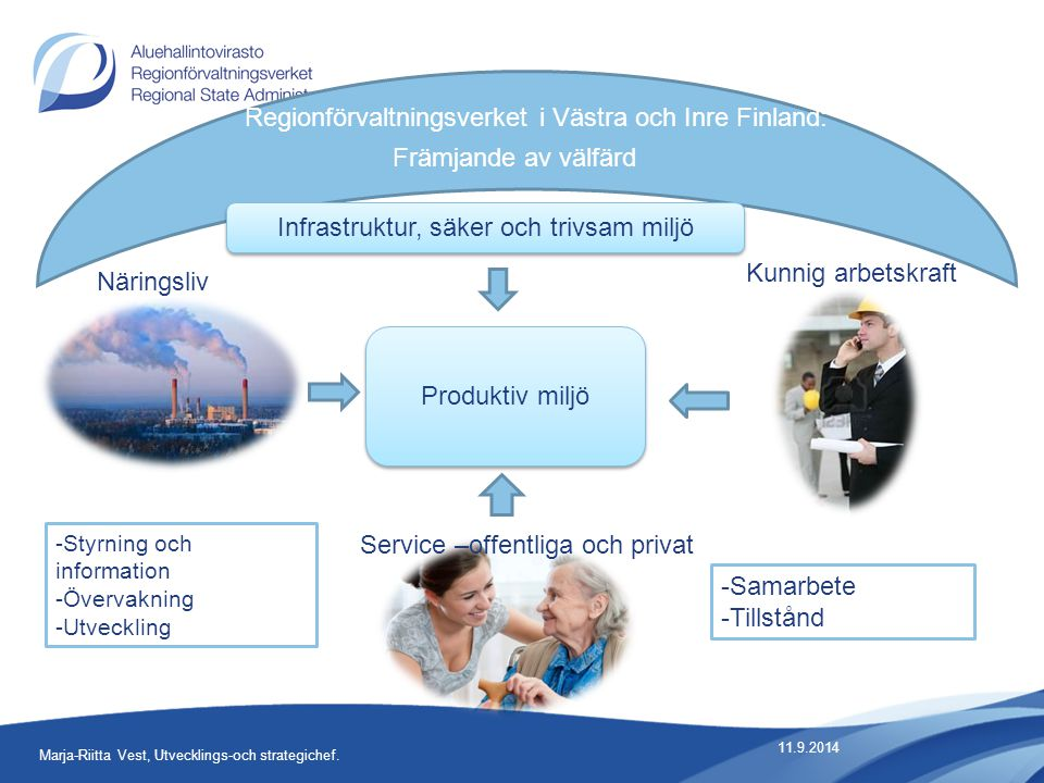 11.9.2014 6 Marja-Riitta Vest, Utvecklings-och strategichef.