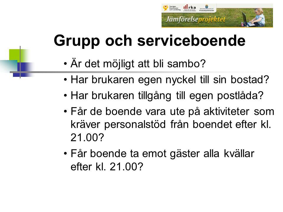 Grupp och serviceboende Är det möjligt att bli sambo.