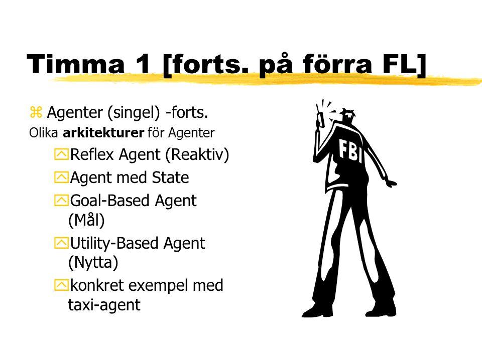 Timma 1 [forts. på förra FL] zAgenter (singel) -forts.