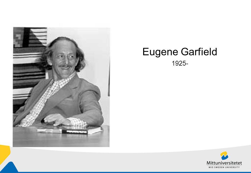 Eugene Garfield 1925-