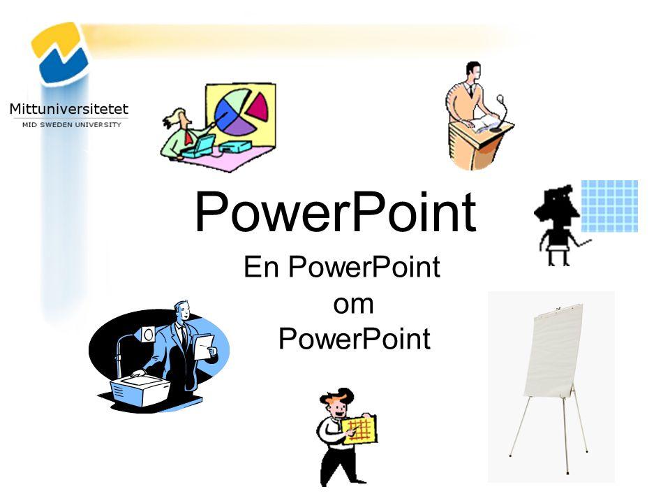PowerPoint En PowerPoint om PowerPoint