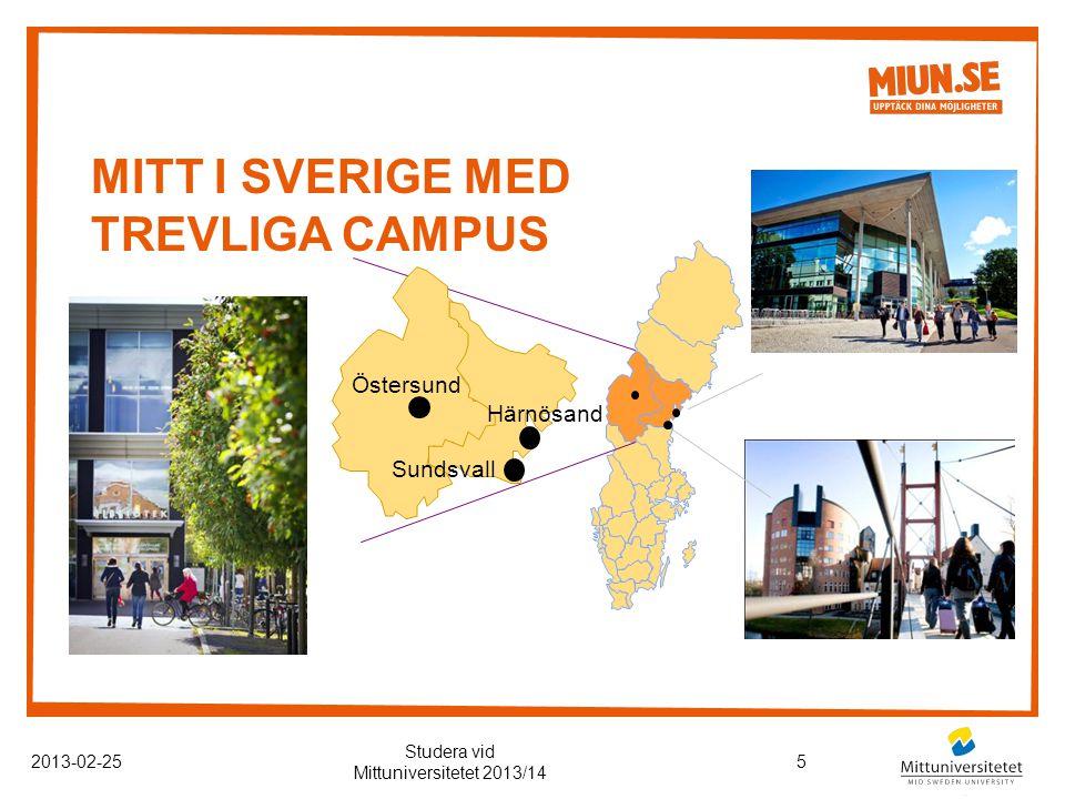 KOMMUNIKATIONER 2013-02-256 Studera vid Mittuniversitetet 2013/14 Fotograf: Industrifotografen AB