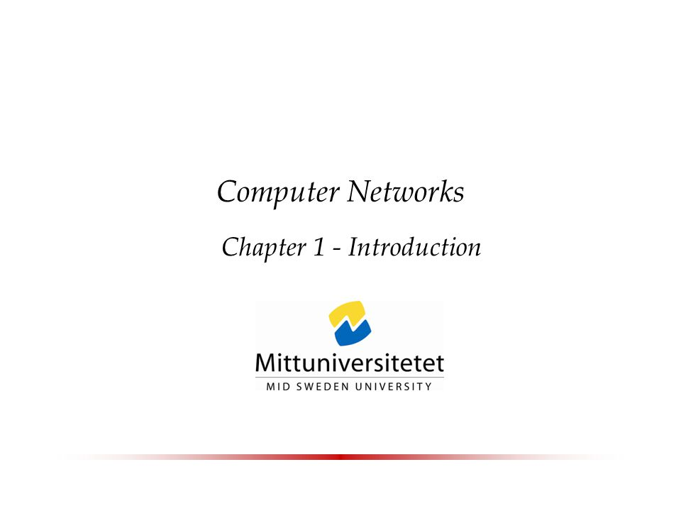 Computer Networks Chapter 1 - Introduction