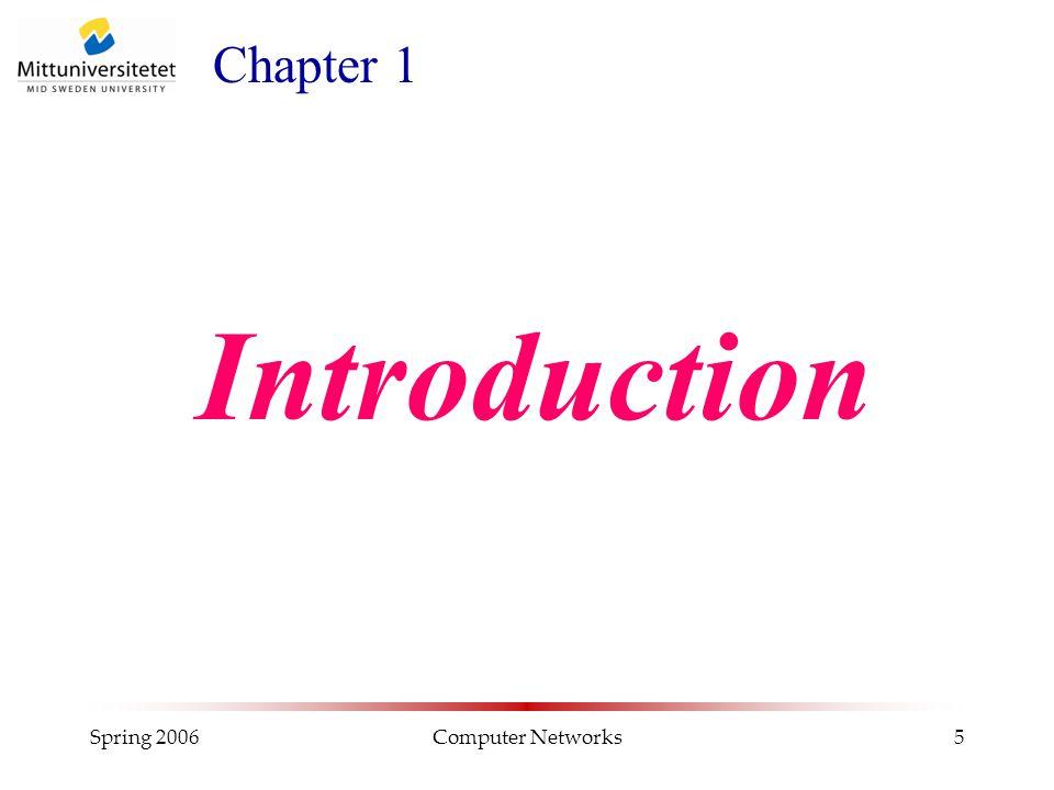 Spring 2006Computer Networks26 Nättopologier för WAN Hopkopplade LAN och WAN = internetwork T.ex.