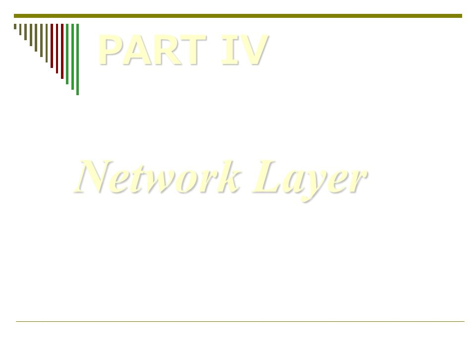 Network Layer PART IV