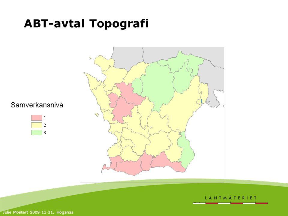 ABT-avtal Topografi Julie Mostert 2009-11-11, Höganäs Samverkansnivå