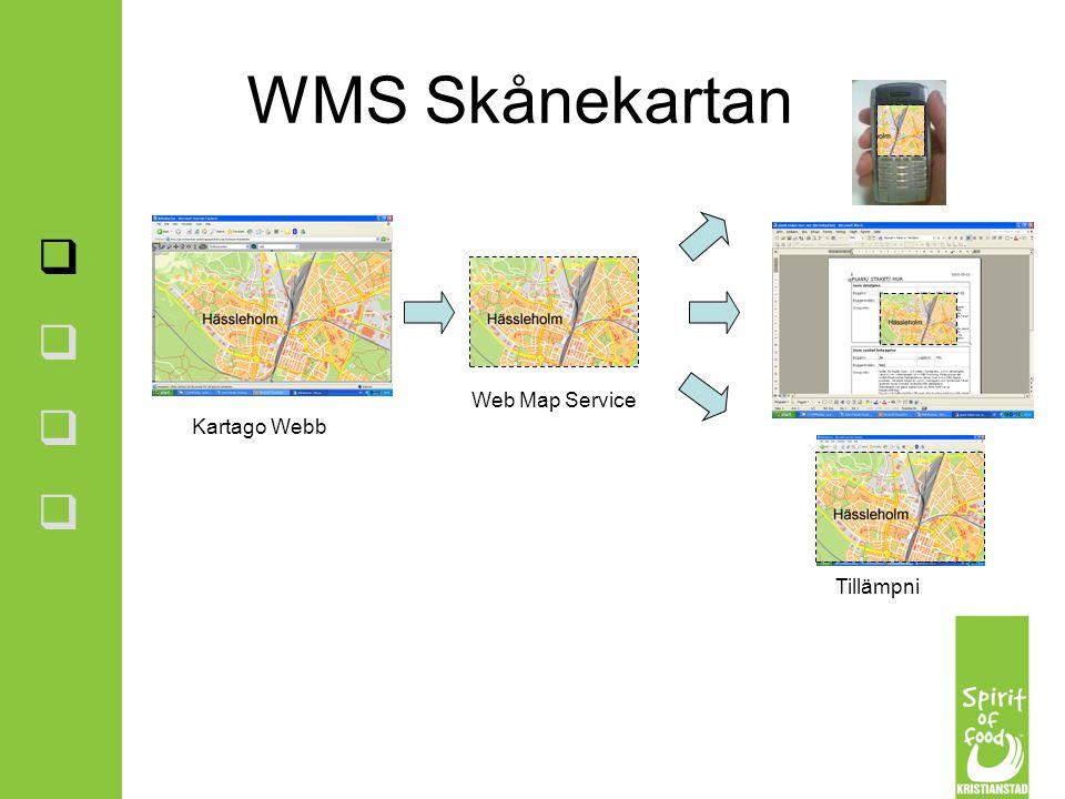 Web Map Service Kartago Webb Tillämpningar WMS Skånekartan        