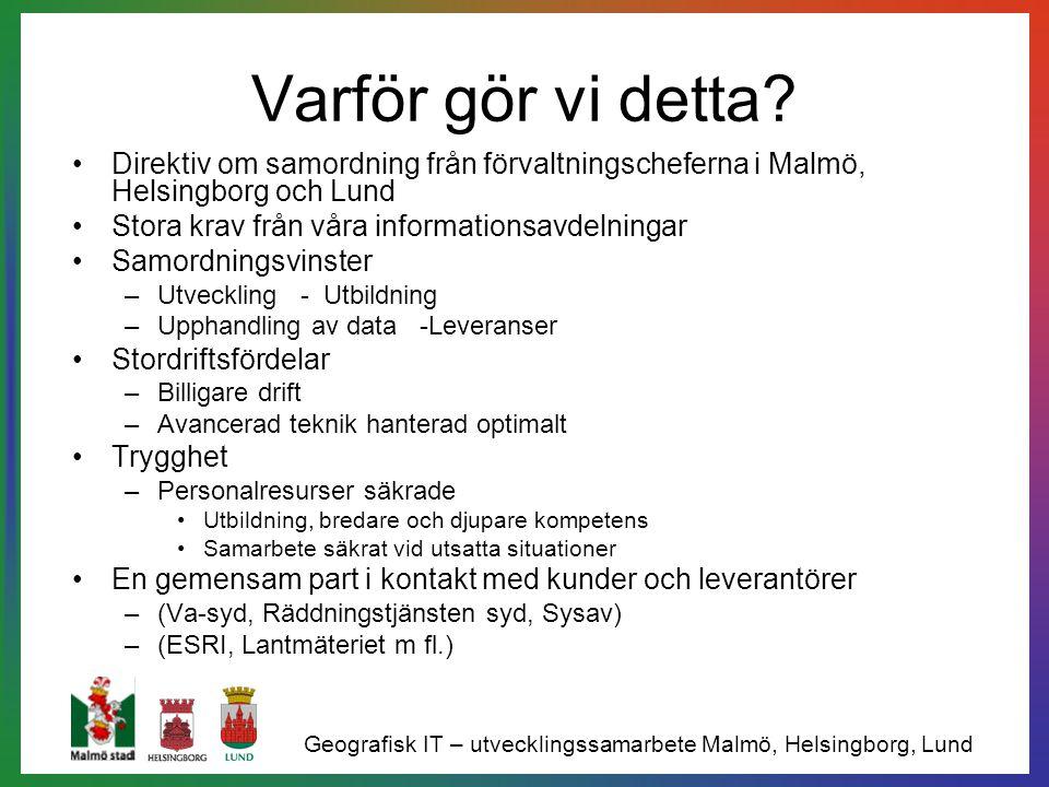 Varför gör vi detta? Direktiv om samordning från förvaltningscheferna i Malmö, Helsingborg och Lund Stora krav från våra informationsavdelningar Samor