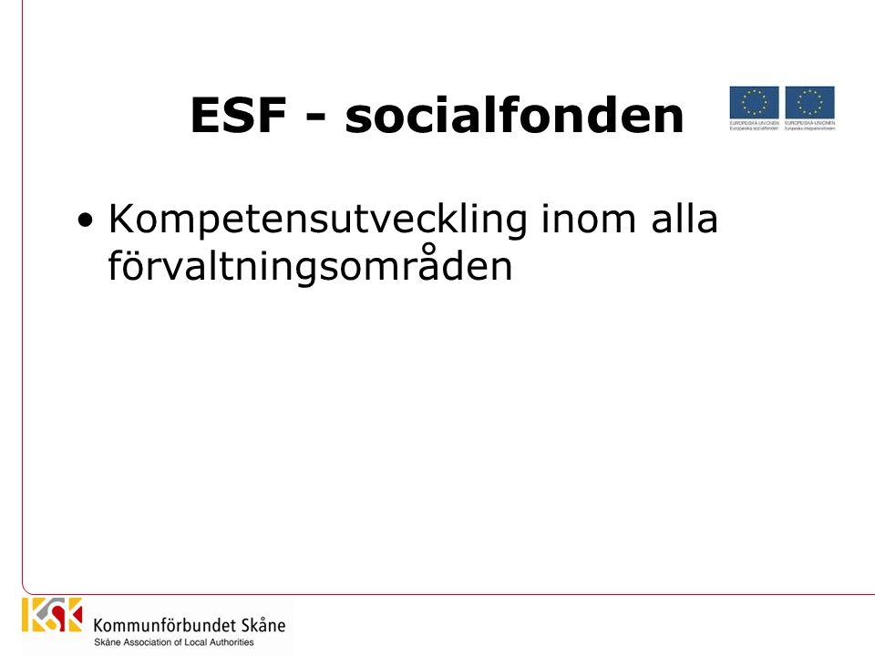 ESF - socialfonden Kompetensutveckling inom alla förvaltningsområden