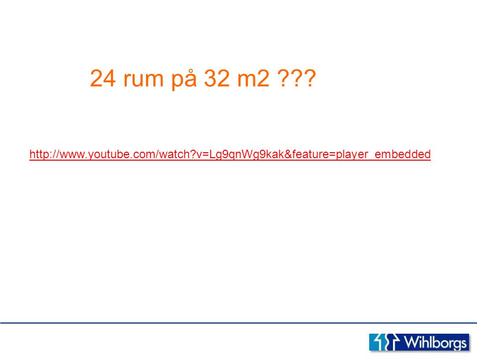 24 rum på 32 m2 http://www.youtube.com/watch v=Lg9qnWg9kak&feature=player_embedded