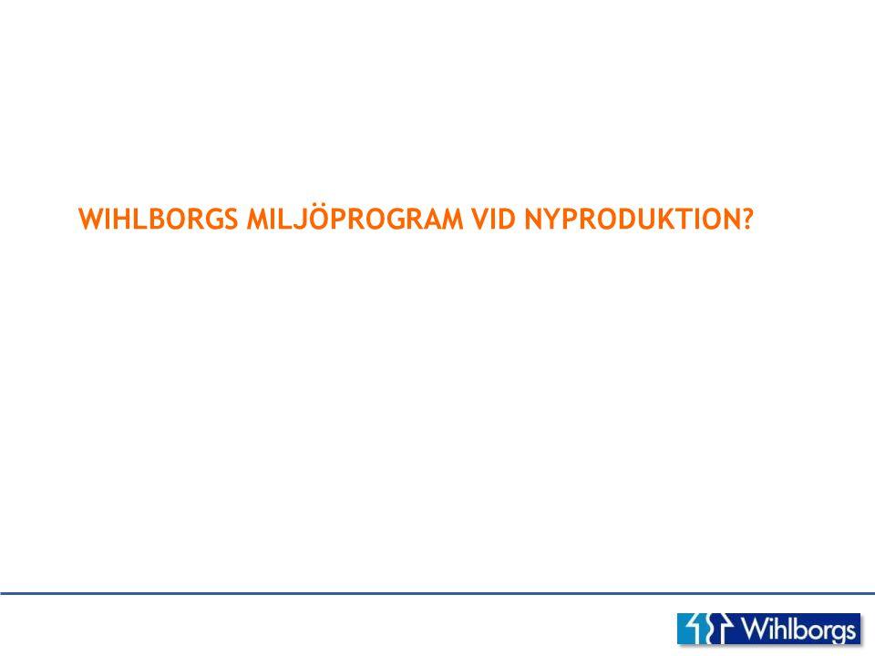 WIHLBORGS MILJÖPROGRAM VID NYPRODUKTION