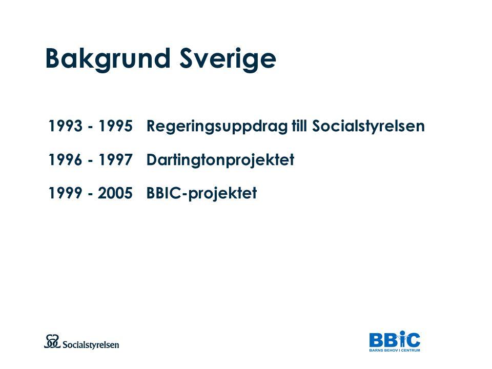 Att visa fotnot, datum, sidnummer Klicka på fliken Infoga och klicka på ikonen sidhuvud/sidfot Klistra in text: Klistra in texten, klicka på ikonen (Ctrl), välj Behåll endast text Bakgrund Sverige 1993 - 1995Regeringsuppdrag till Socialstyrelsen 1996 - 1997Dartingtonprojektet 1999 - 2005BBIC-projektet