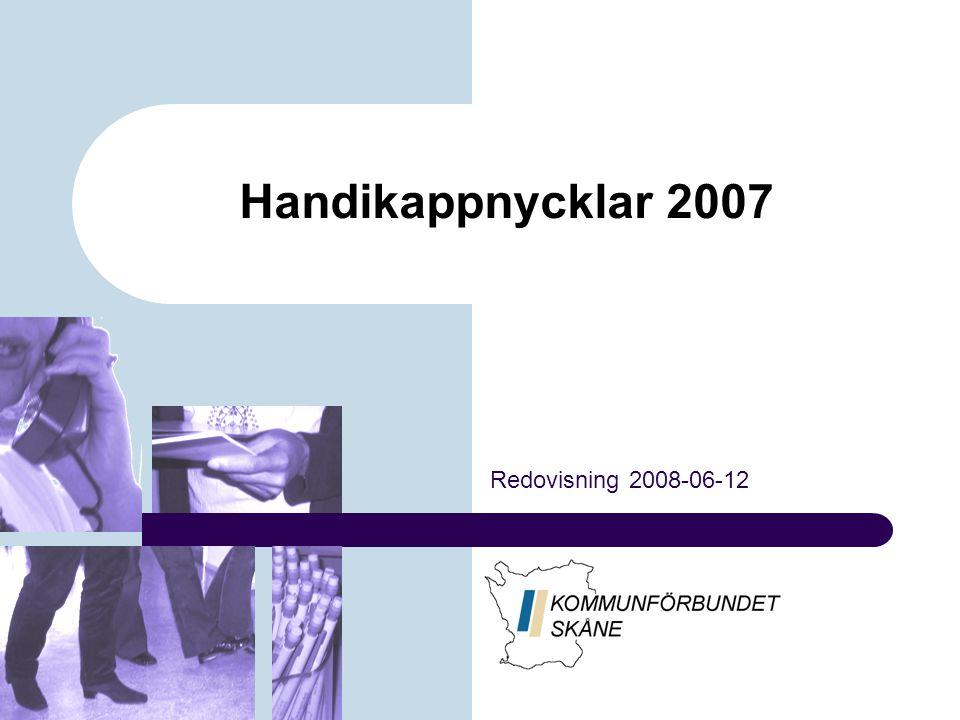 Handikappnycklar 2007 Redovisning 2008-06-12