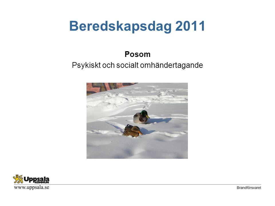 Beredskapsdag 2011 Posom Psykiskt och socialt omhändertagande