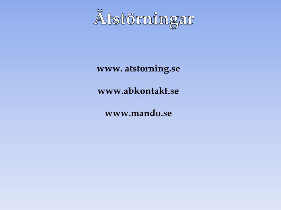 www. atstorning.se www.abkontakt.se www.mando.se