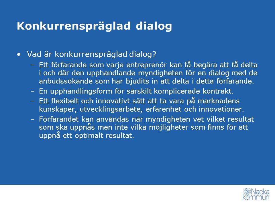 Vad är konkurrenspräglad dialog.