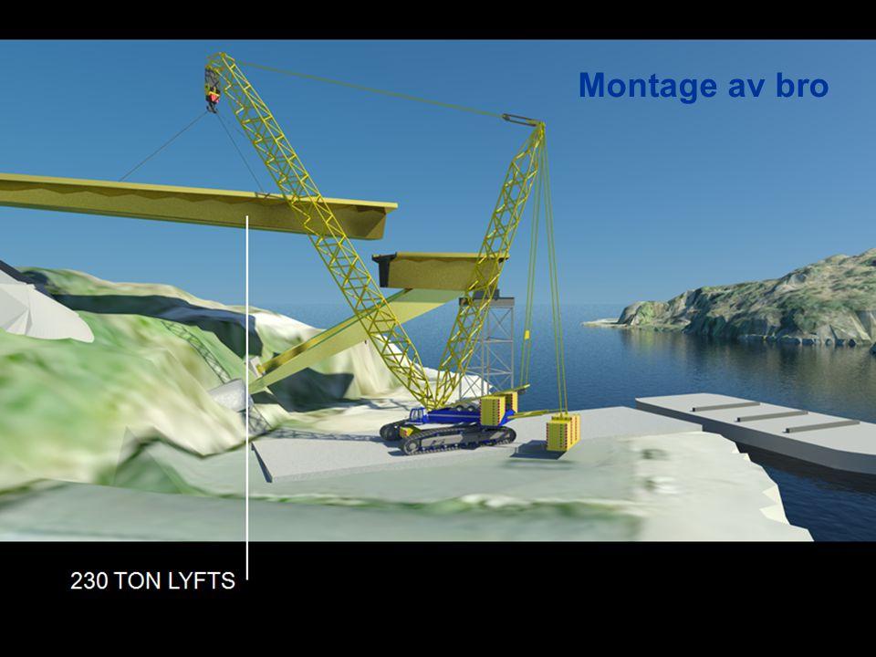 Montage av bro