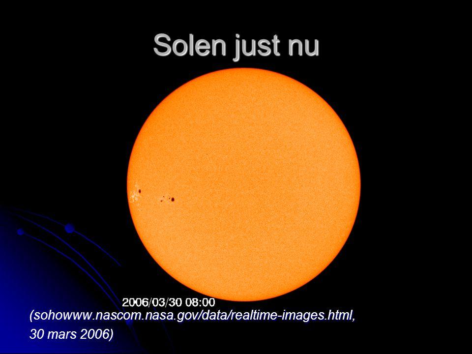 Solen just nu (sohowww.nascom.nasa.gov/data/realtime-images.html, 30 mars 2006)
