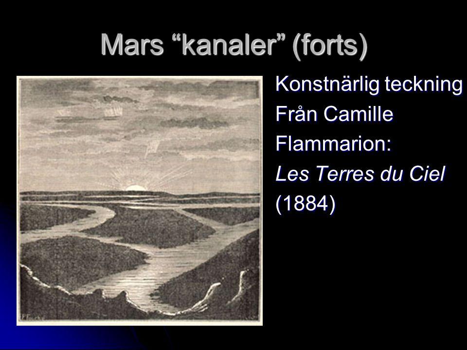 """Mars """"kanaler"""" (forts) Konstnärlig teckning Från Camille Flammarion: Les Terres du Ciel (1884)"""