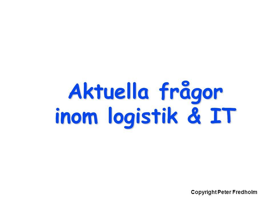 Copyright Peter Fredholm Aktuella frågor inom logistik & IT
