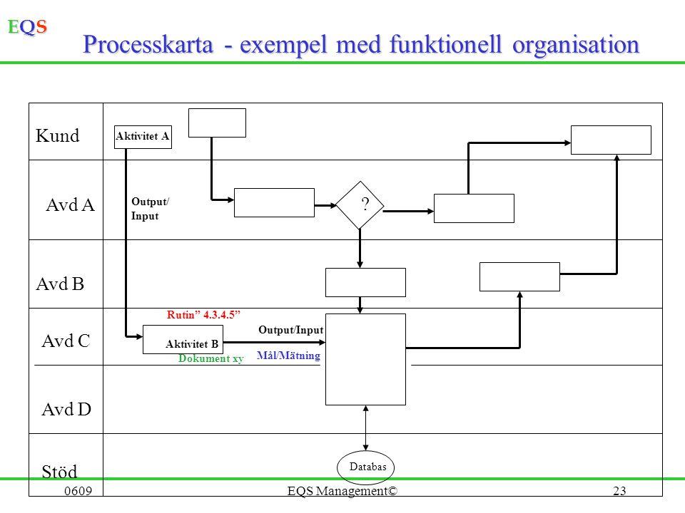 EQSEQSEQSEQS 0609EQS Management©22 Product development Marketing & Sales Manufacturing Research Product Develop- ment Manufact. Plant Manufact. Plant