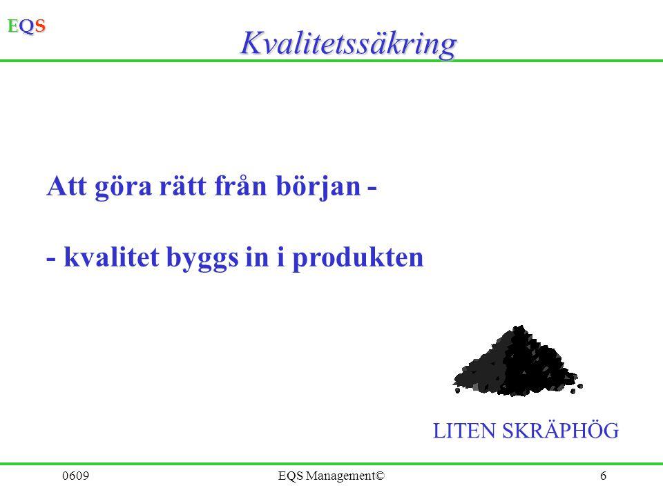 EQSEQSEQSEQS 0609EQS Management©5Kvalitetskontroll EFTERÅT SKRÄPHÖG