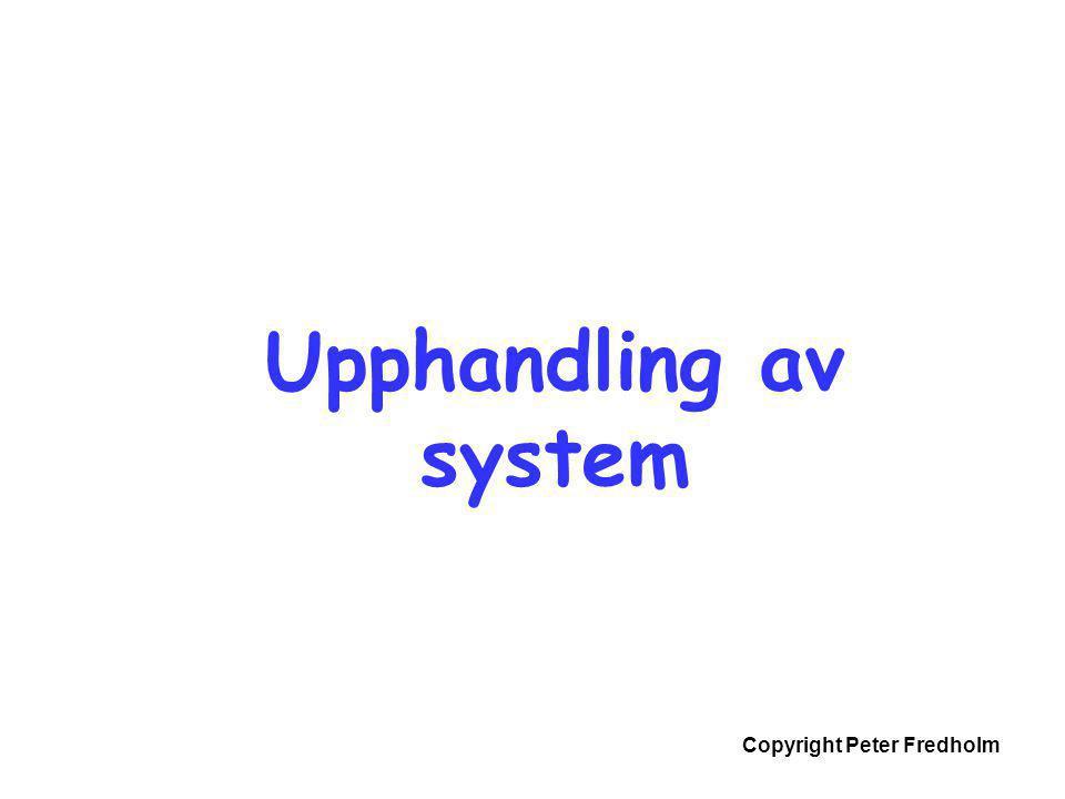 Copyright Peter Fredholm Upphandling av system