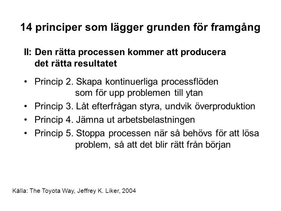 II: Den rätta processen kommer att producera det rätta resultatet Princip 2.