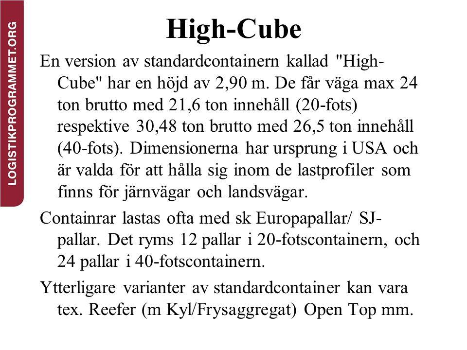 High-Cube En version av standardcontainern kallad