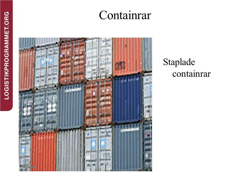 Containrar Staplade containrar