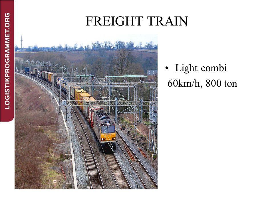 FREIGHT TRAIN Light combi 60km/h, 800 ton